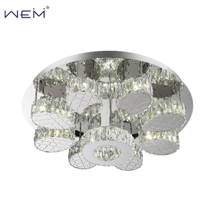 Wholesale Indoor LED Ceiling Light Modern Designer Style Rounds Crystal Ceiling Lamps Fixture For Hotel