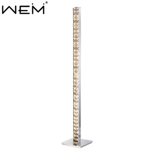 Art Crystal Stand Floor Lamp Modern Bedroom Luxury LED Floor Standing Lamps Fashion Luster Crystal Floor Light