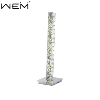 Modern Fashion Simple Crystal Table Lamps Stainless Steel Desk Lighting Decor Led Crystal Table Lamp for Bedroom