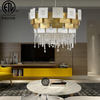 Modern Decorative Pendant Light Fixtures Hanging Light Luxury Clear Crystal Pendant Lamp Chandelier for Restaurants